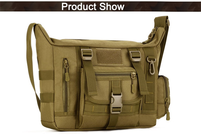 14 Inch Tactical Sling Bag Military Men's A4 Document Molle Messenger Sport Crosscody Bags Sling Laptop Shoulder Bag XA458WA