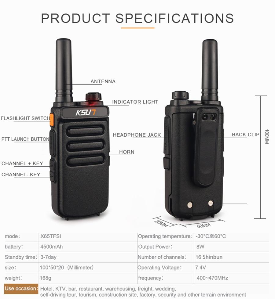 2 PCS Talkie Walkie Scanner UHF Walkie Talkie 10KM Two Way Ham Radio Station Radio Comunicador Walkie-talkie
