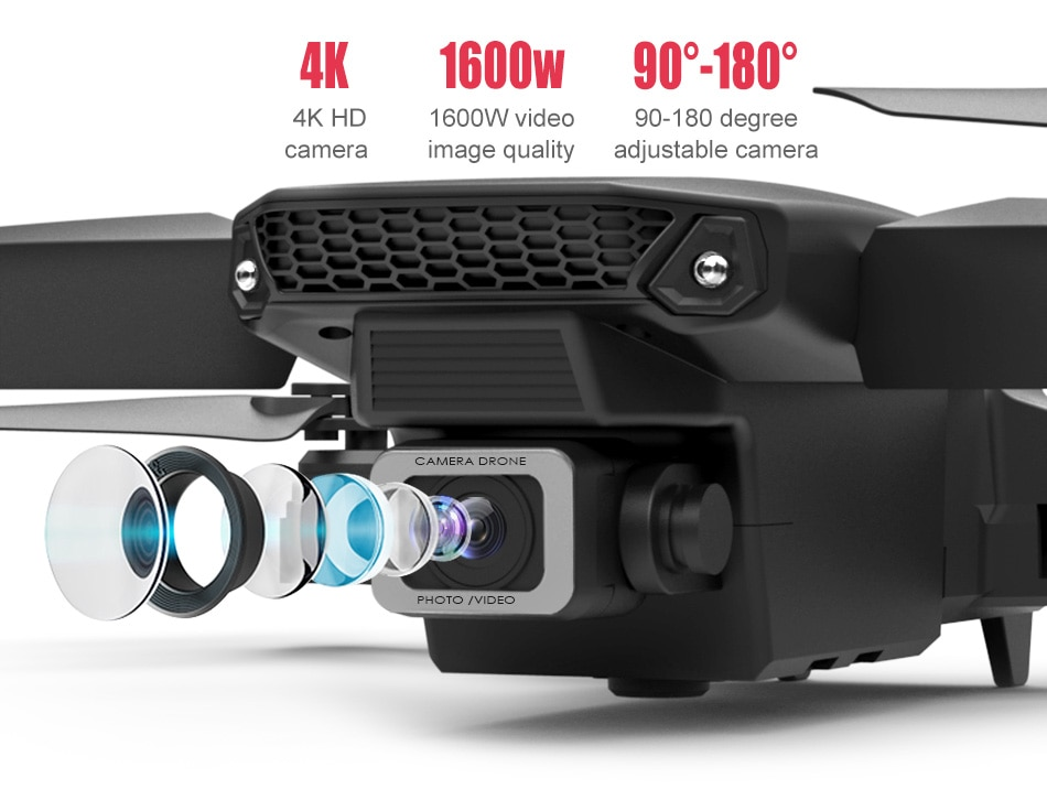 E525 PRO 4K Mini Drone Profissional Obstacle Avoidance Dual Camera Fixed Height RC Quadcopter Dron Helicopter FPV