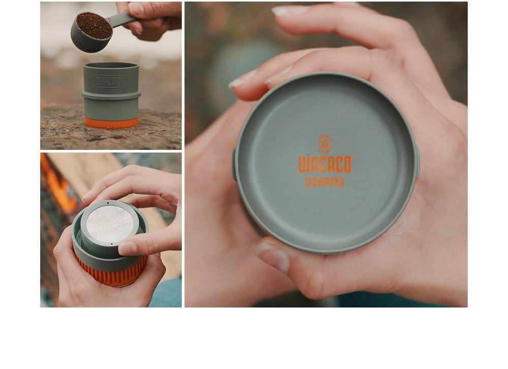 WACACO Pipamoka, All-in-one Vacuum Pressured Portable Coffee Maker, Insulated Travel Mug, Hand Powered and Pressure Brewer