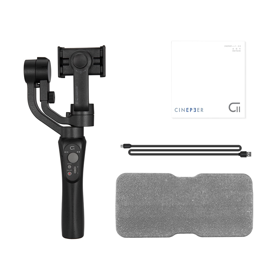 ZHIYUN Official CINEPEER C11 3-Axis Phone Gimbal Handheld Stabilizers Vlog Smartphone for iPhone 11 12 XS Huawei Xiaomi Samsung