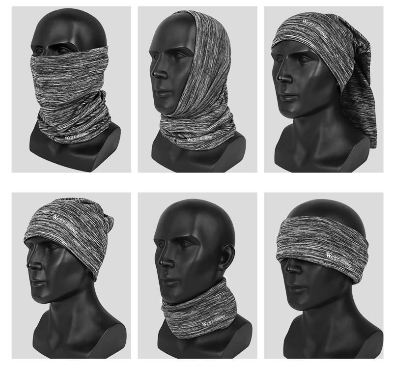 WEST BIKING Winter Cycling Headwear Fleece Neck Warmer Bandana Caps Running Mask Bicycle Bandana Sports Scarf Face Mask Headband