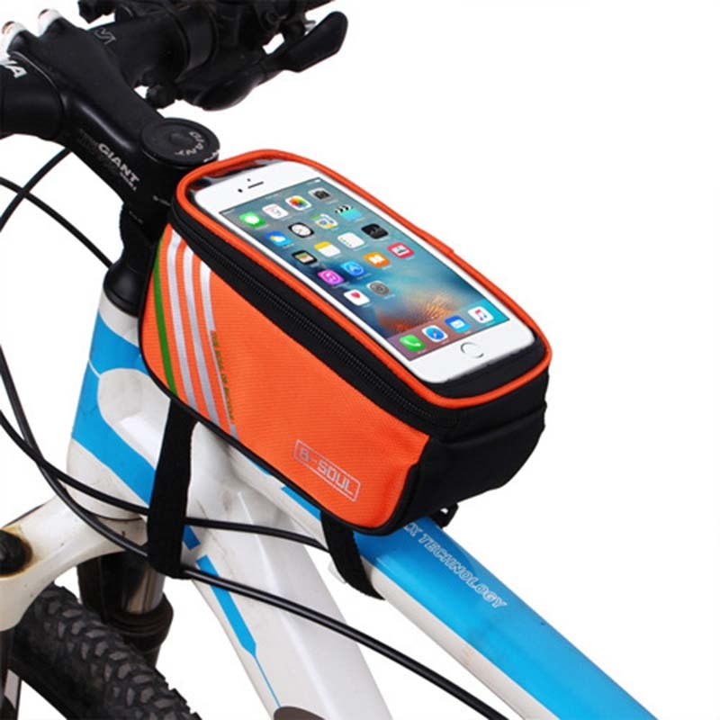 Waterproof Bicycle Tube Frame Bag,Cycling Pouch Touch Screen Phone Holder,Bicycle Saddle Bag For Bicycle Accessories