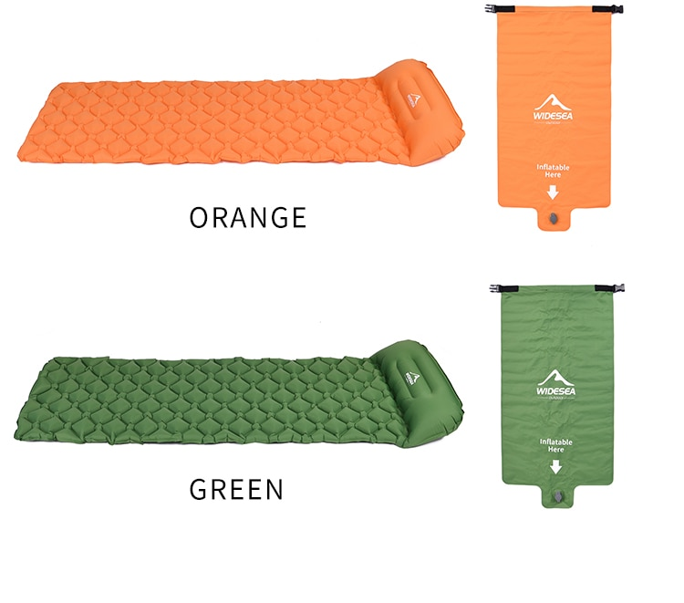 Widesea Camping Sleeping Pad Inflatable Air Mattresses Outdoor Mat Furniture Bed Ultralight Cushion Pillow Hiking Trekking