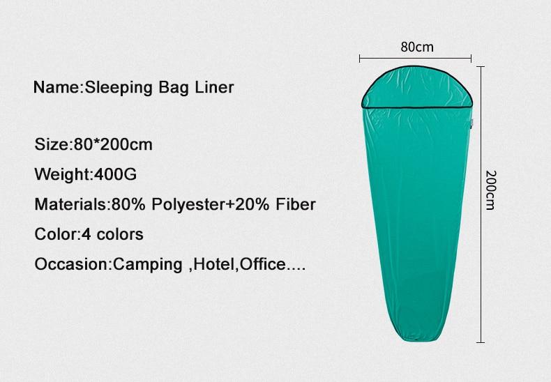 Naturehike High Quality Outdoor Travel High Elasticity Sleeping Bag Liner Portable Carry Sheet Hotel Anti Dirty Sleeping Bag