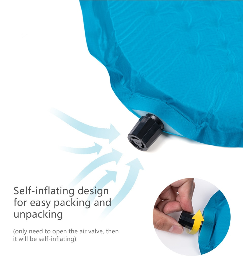 Naturehike 2019 New Self-inflating Camping Mat High Quality Sponge Camping Mattress Outdoor Hiking Lengthened Sleeping Pad