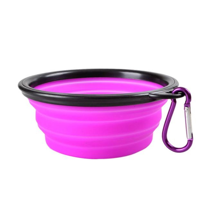 Dog Travel Silicone Bowl Portable Foldable Collapsible Pet Cat Dog Food Water Feeding Travel Outdoor Bowl Pet Accessories