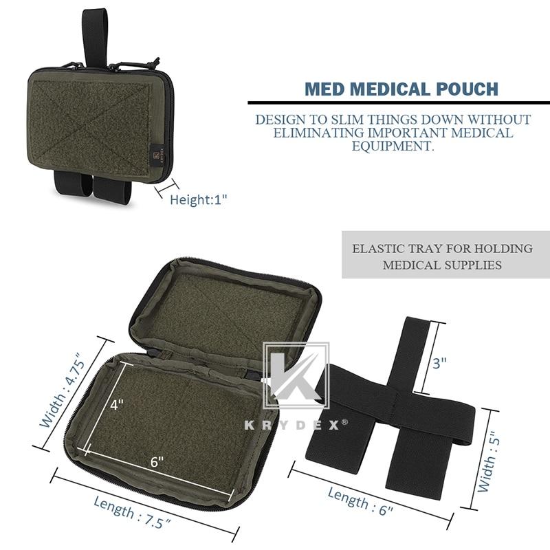 KRYDEX MED1 Medical Pouch TRA Style Tactical IFAK Tourniquet Holder MOLLE Belt Blow Out Storage Bag EMT Trauma Kit Carrier RG