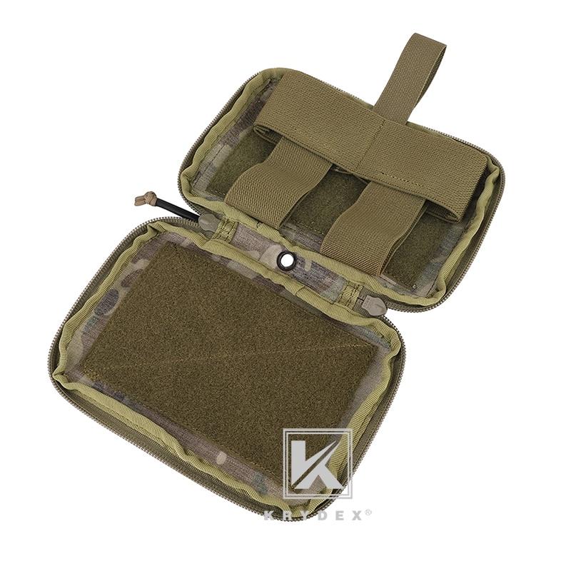 KRYDEX MED1 Tactical Medical Pouch TRA Style EMT Trauma Kit Carrier IFAK Tourniquet Holder MOLLE Belt Blow Out Storage Bag MC