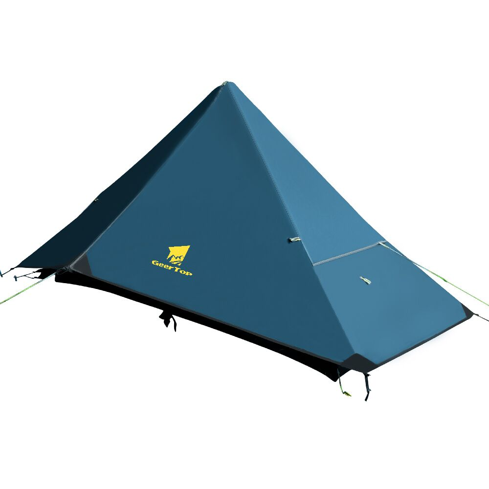 GeerTop Ultralight Camping Tent One Person Four Season Waterproof No Poles Tents Compact Easy Set Up for Hiking Outdoor Tourist