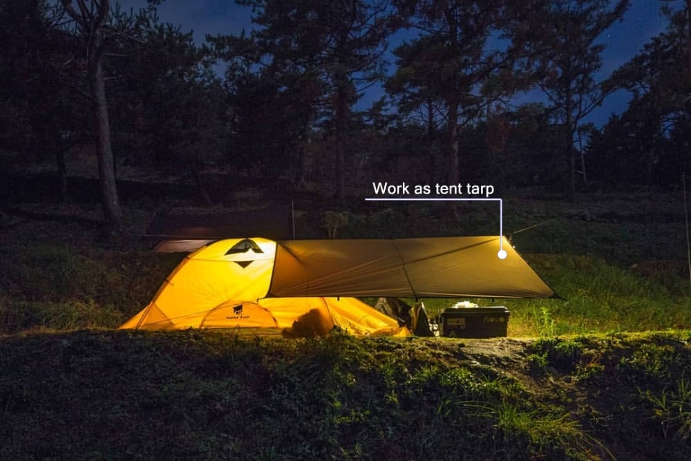 GeerTop Camping Tent Tarp Ultralight Waterproof Picnic Mat Coating Sun Shelter Mutifunctional Footprint Hiking Tourist Outdoor