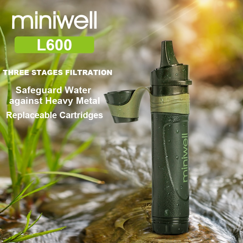 Outdoor survival Camping equipment military mini water filter portable outdoor straw water filter
