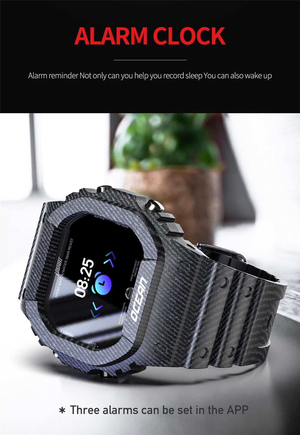 Lokmat Time Ocean Sports Smart Watch Women IP68 Waterproof Fitness Rugged Outdoor Smartwatch Men for Smart Phone Dropshipping