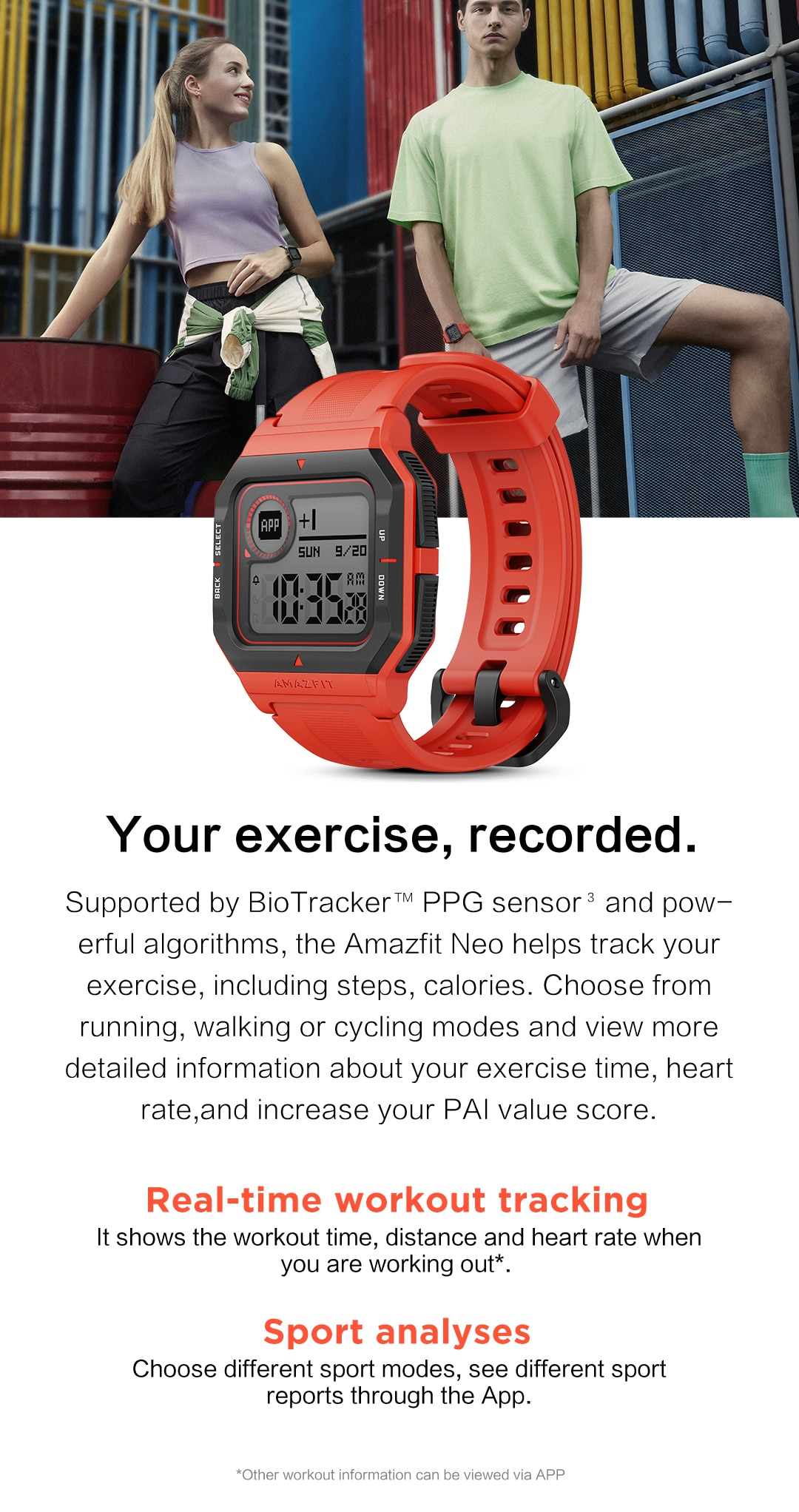 NEW 2020 Amazfit Neo Smart Watch Bluetooth Smartwatch 5ATM Heart Rate Tracking 28Days Battery Life Watch For Android IOS Phone